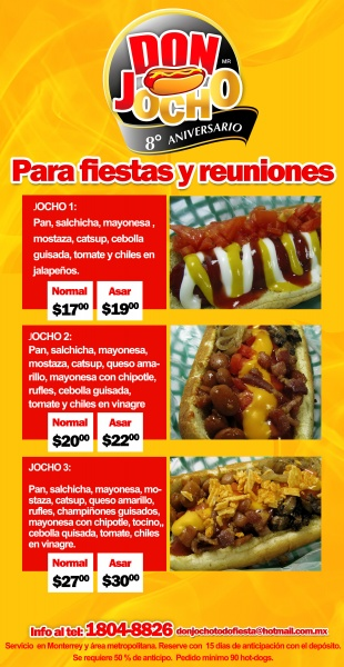 HOT DOGS EVENTOS MONTERREY